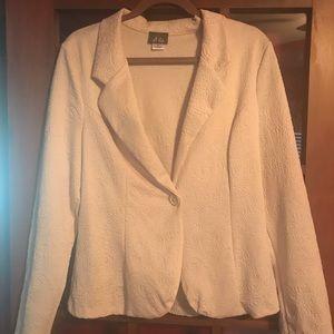 Cream Patterned Blazer XL